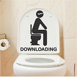 Downloading Bathroom Decal Sticker