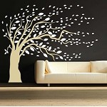 Blowing Tree Wall Art Design