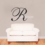 Big Initial Name Wall Decal