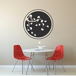 Cherry Blossom Ring Wall Decal