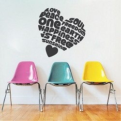 Peaceful Heart Wall Sticker