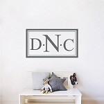 Custom Monogram Wall Decal