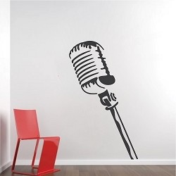 Microphone Wall Decal