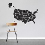 Map Of USA Decal Sticker