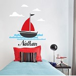 Nautical Sailboat Monogram