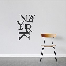 Modern New York Wall Lettering Decal