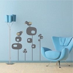 Cute Bird Tree Wall Decals