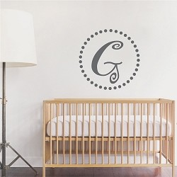 Curly Initial Monogram Wall Decal