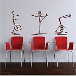 Modern Stick Figure Men Decals