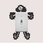 Electrocuted Guy Outlet Decal Sticker