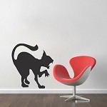 Scary Cat Decal Sticker