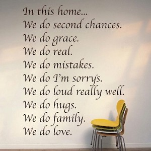In This Home Wall Decal Quote
