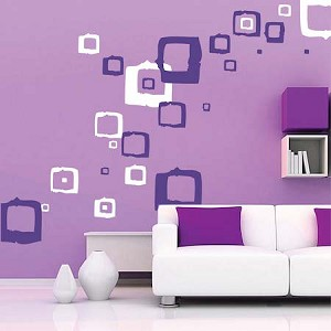 Rocky Squares Wall Decals