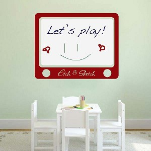 Etch and Sketch Dry Erase Wall Decal