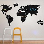 World Chalkboard Wall Decal