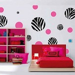 Zebra Dots Wall Art Design